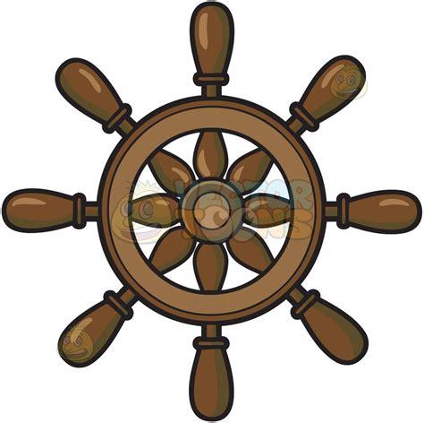 boat steering wheel clipart steering wheel of a ship cartoon clipart vector toons
