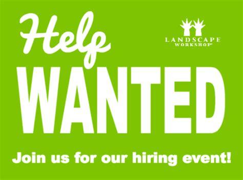 huntsville hiring event landscape workshop