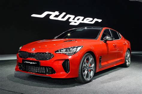 kia stinger official  kmh power outputs confirmed performancedrive