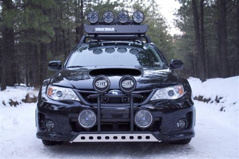 subaru wrx offroad not even the harshest winter will this prepped