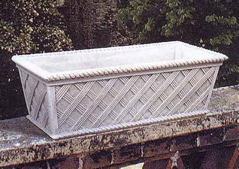 vasi in cemento da giardino 177 s cassetta vimini vendita vasi in cemento da