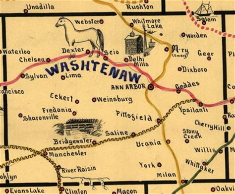 Washtenaw County Records Geotagging In 1897 A Postal Memory Map Of Washtenaw County