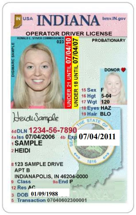 indiana id card template drivers license template photoshop philippines