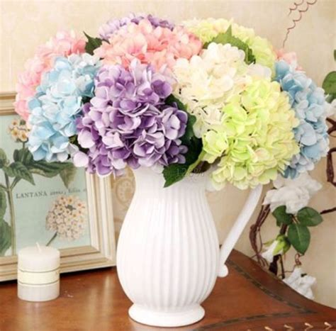 silk flowers bouquet artificial hydrangea wedding