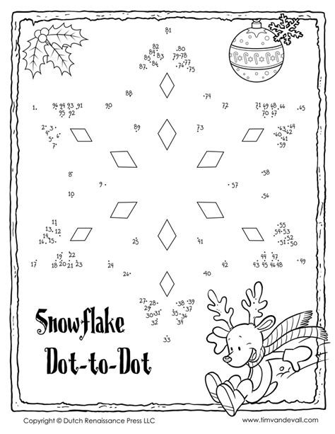 free printable dot to dot winter snowflake dot to dot 1 tim s printables