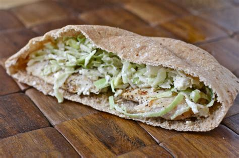 Marinated Slaw Zoes Kitchen by Chicken Marinated Slaw Pita Foodfash