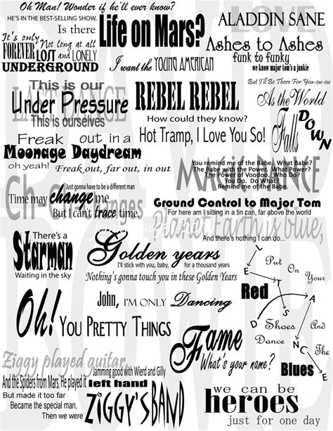 lyrics david bowie david bowie lyrics collage by jennamae93 on deviantart