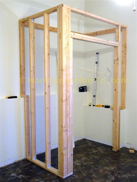 how to build a stud wall in a bathroom how to build a basement closet part 4