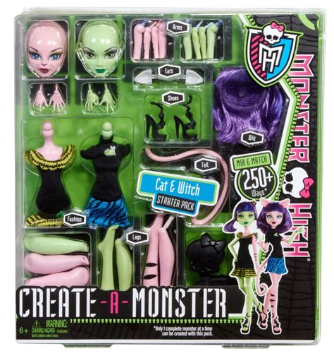 monster high doll design games amazon com monster high create a monster witch cat girl