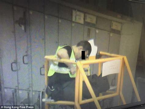 show security guards asleep  hong kong