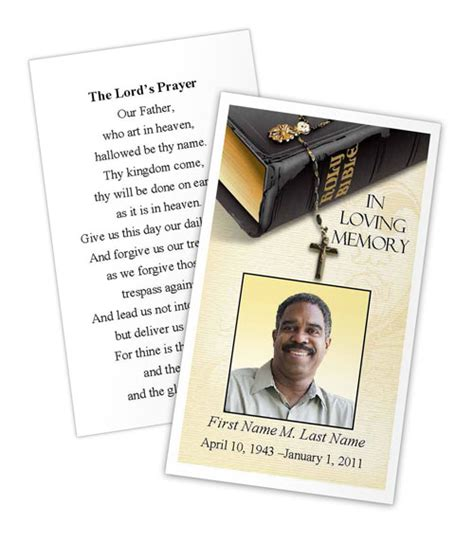 funeral prayer card template free select funeral program card design and layout