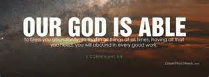 Our god is able to bless you free facebook timeline profile cover