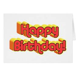 happy birthday text greeting card zazzle