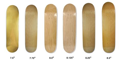 Skateboard Deck Sizes by Pro Quality 100 Canadian Maple Bamboo Material Blank
