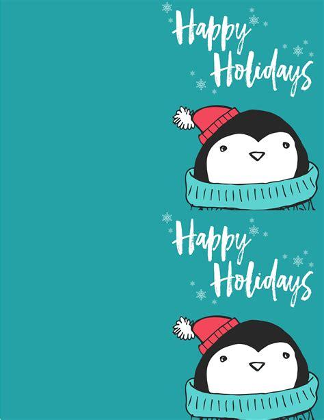 printable christmas cards penguin free penguin christmas card printables the best ideas