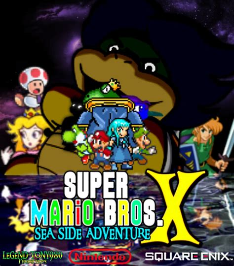 Poster Anime Poster The Legend Of Kin 1 mario bros x sea side adventure poster by legend