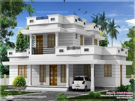 house flat design small modern house plans flat roof