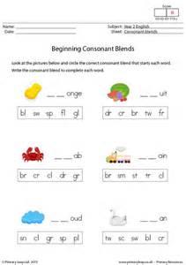 primaryleap co uk beginning consonant blends 2 worksheet