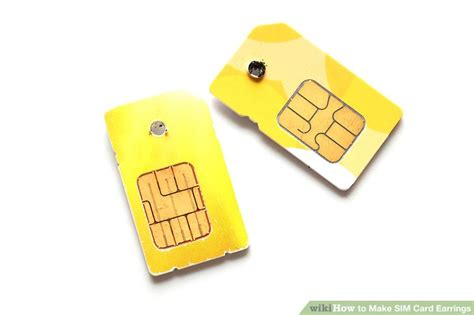 how to make a sim card into a micro sim how to make sim card earrings 5 steps with pictures