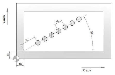 Siemens Sinumerik HOLES1 Row of holes - Drilling Pattern ... Z105