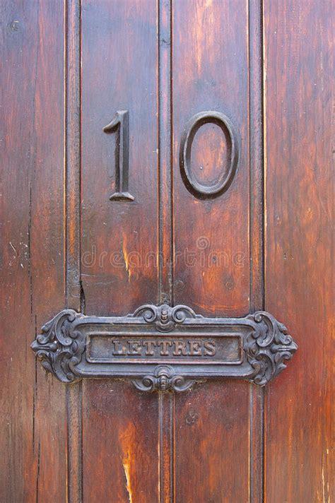Post Box For Front Door Post Box In A Door Stock Photography Image 10411192