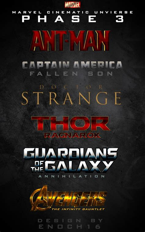 film marvel fase 4 phase 3 marvel cinematic universe logos by enoch16 on