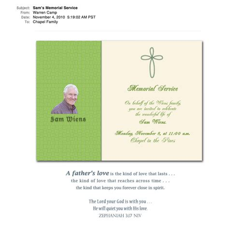 templates for death announcements memorial announcement template memorial service bookmark
