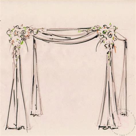 Wedding Arch Drawing by Chuppah And Sketches On