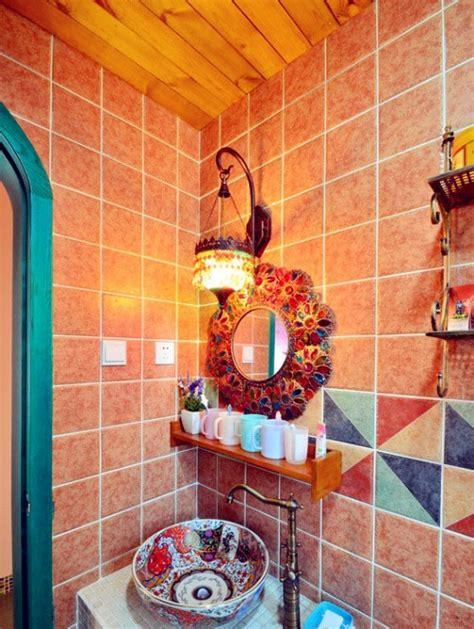 boho chic bathroom 36 bright bohemian bathroom design ideas digsdigs
