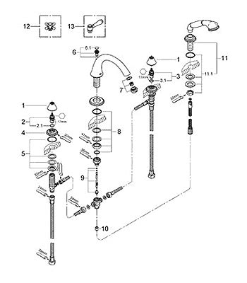 Grohe Faucet Parts Diagram by Parts For Grohe Geneva Series Fashioned Bath Roducts