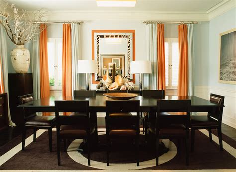 orange dining rooms orange drapes contemporary dining room mary mcdonald
