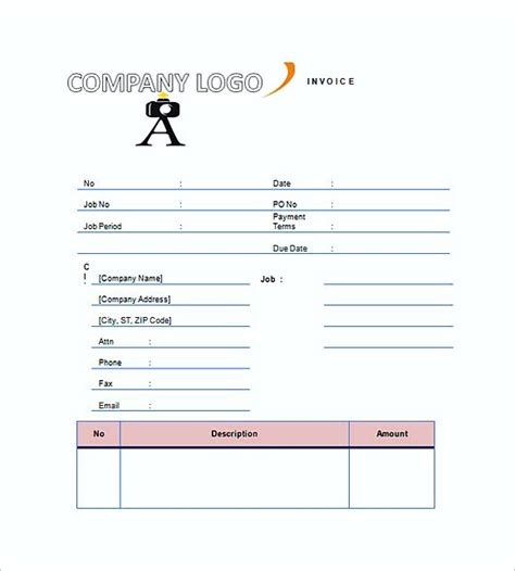 Wedding Planner Needed by Wedding Photography Invoice Templates Photography