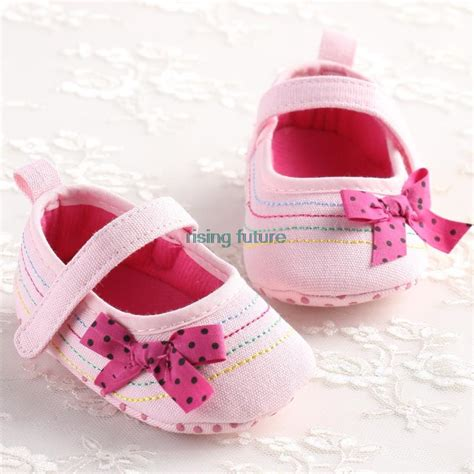 s1083 bow baby shoes pink baby shoes soft