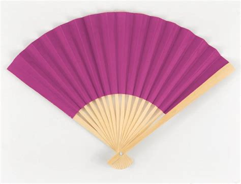 Paper Folding Fan - fuchsia pink paper folding fans