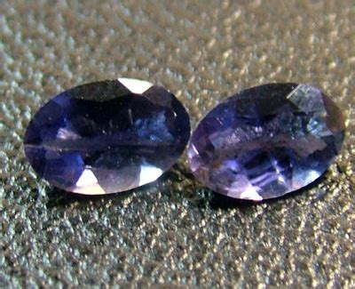 Sapphire 656 Cts iolite faceted pair 0 65 cts cg 656