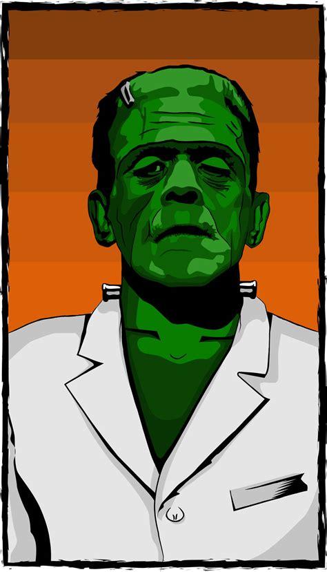 frankenstein poster vector art graphics freevectorcom