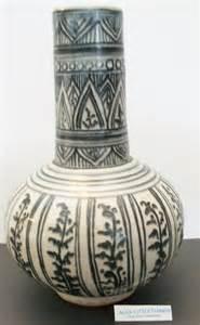 ethnic print ceramic vase home decor