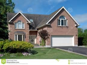 Double Car Garage Plans by Contemporary Suburban House Stock Images Image 900564