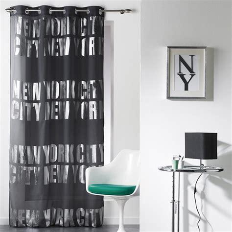 rideau voilage quot new york silver quot 140x260cm noir