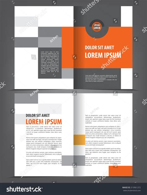 newsletter layout vector vector empty bifold brochure print template stock vector