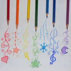easy colored pencil drawings colored pencils drawing pencils rainbow