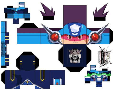 Megaman Papercraft - mega by hollowkingking on deviantart