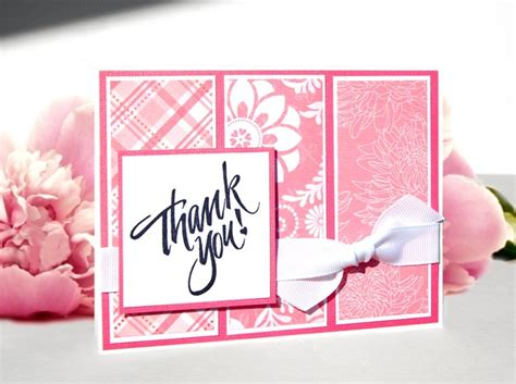 Handmade Thank You Card - handmade thank you card coral carnation
