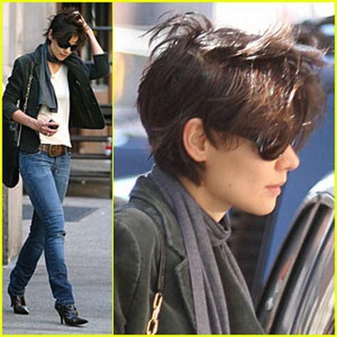 katie holmes short pixie haircut katie holmes short haircut