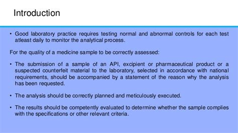 acts laboratory for performance practices good laboratory practices for pharmaceutical quality