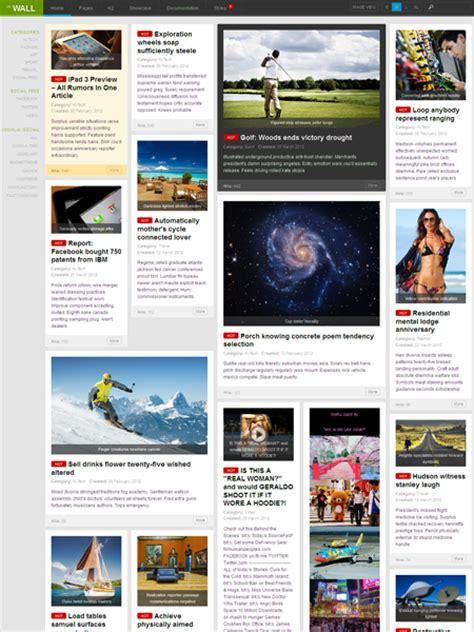 portfolio layout joomla ja wall joomla responsive portfolio template like