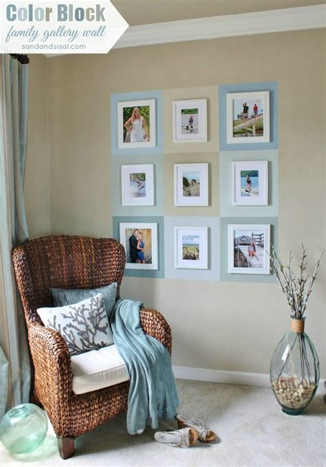 color block bedroom color block family gallery wall textured walls chair