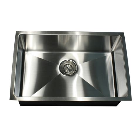 steel kitchen sink nantucket sinks sr2818 16 rectangle undermount stainless