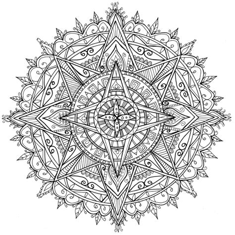 coloring pages for adults star star mandala by welshpixie on deviantart