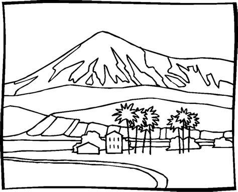 imagenes de paisajes para xolorear dibujos para colorear paisajes